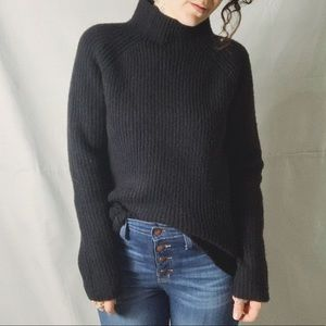 MADEWELL Northfield Mock Neck Ribbed Sweater